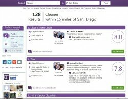 whodoyou search results for cleaner san diego