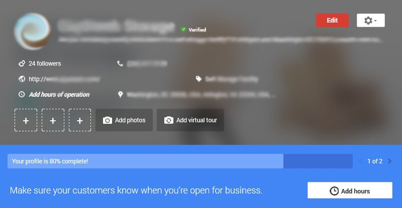 Google my business dash edit
