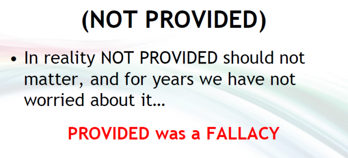 provided was a fallacy