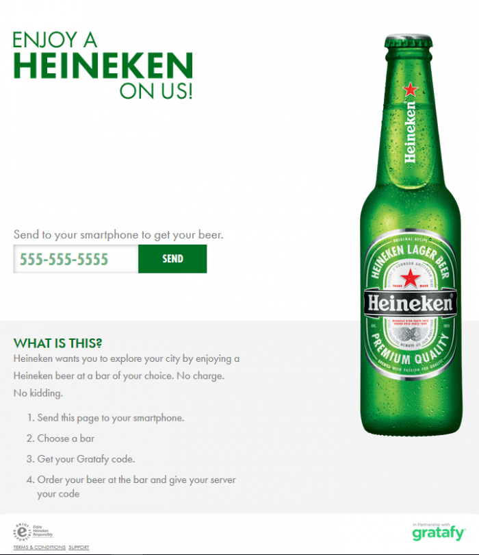 Heineken FB and Twitter campaign